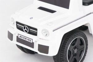 Pealeistutav laste tõukeauto Mercedes G klass valge