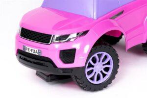 Pealeistutav laste tõukeauto Land Rover Roosa