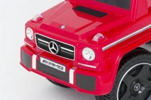 Pealeistutav laste tõukeauto Mercedes G klass punane