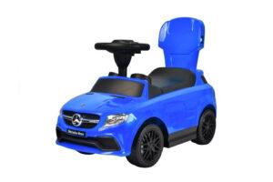 Pealeistutav laste tõukeauto ML AMG Mercedes Sinine abivahenditega