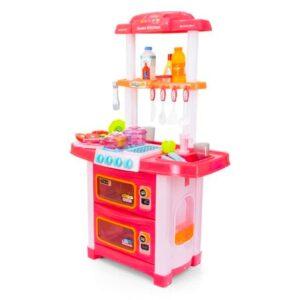 Plastikust laste mänguköök, tarvikutega