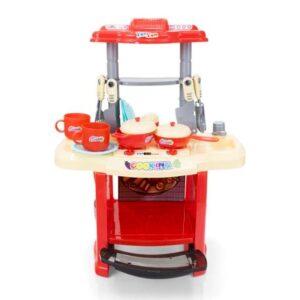 Plastikust pisike laste mänguköök, tarvikutega