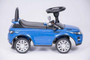Pealeistutav laste tõukeauto Land Rover, sinine uus mudel