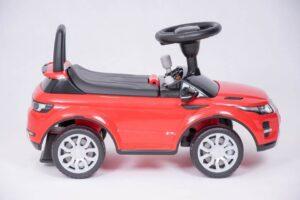 Pealeistutav laste tõukeauto Land Rover, punane uus mudel