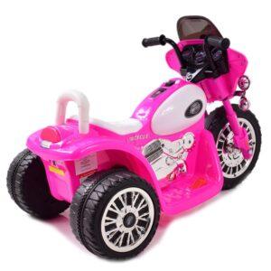 Laste elektrimootorratas – Chopper roosa