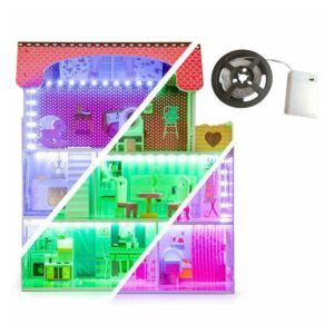 Puidust nukumaja LED valgustusega