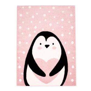 "Lastetoa vaip ""Armas pingviin"" roosa"