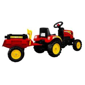 Pedaalidega traktor koos käruga