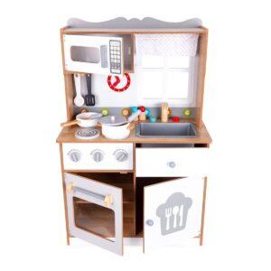 Puidust mänguköök + 12 tarvikut