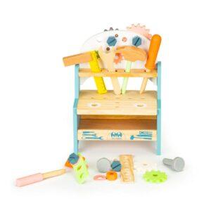 Laste tööriistakomplekt-laud, puidust