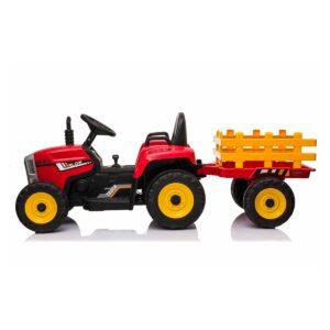 Elektriline traktor koos käruga