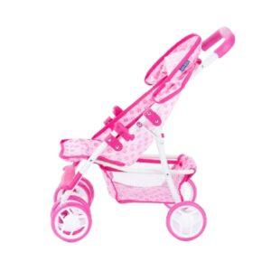 Laste nukuvanker roosa, topeltratastega 3