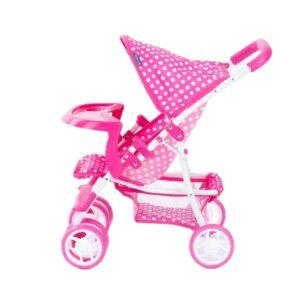 Laste nukuvanker roosa, topeltratastega 2