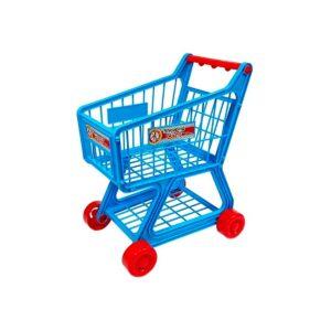 Sinine ostukäru koos tarvikutega