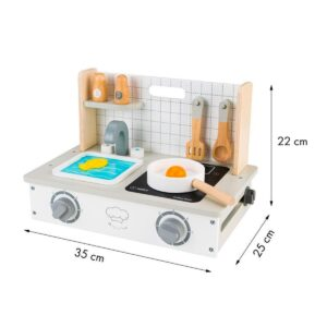 Miniköök – puidust pliit