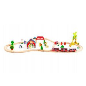 Suur puidust rongirada + patareidega rong, 53 osaline