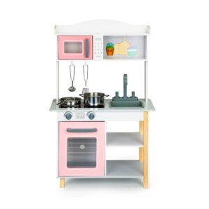 Puidust roosa mänguköök