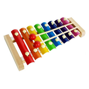 Puidust värviline ksülofon