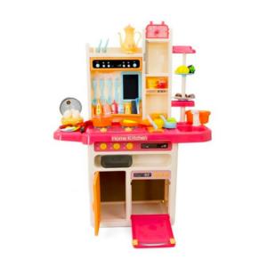 Plastikust laste mänguköök, koos tarvikutega roosa