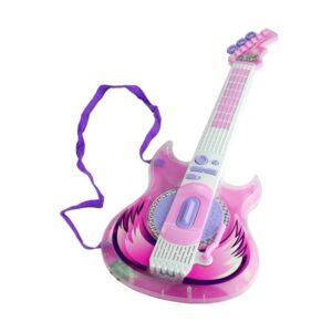 Roosa kitarr mikrofoniga