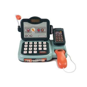 Kassa-müügilett mikrofoniga