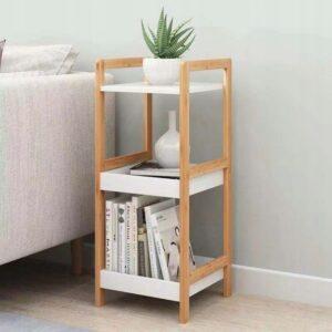 Pisike raamatu ja taimede riiul 2 valge-mänd