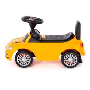Pealeistutav tõukeauto Audi kollane