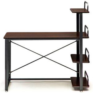Metallist lastetoa kirjutuslaud riiulitega 2
