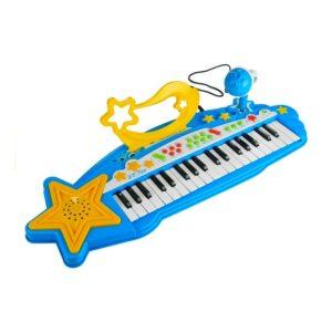 Lõbus klaver mikrofoni ja MP3 mängijaga